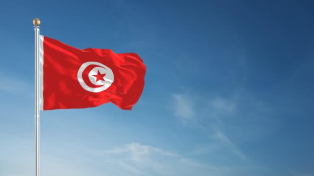 4 K Tunesien Flagge-Endlos wiederholbar – Video