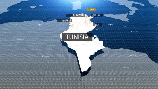 tunisia map with label then with out label video