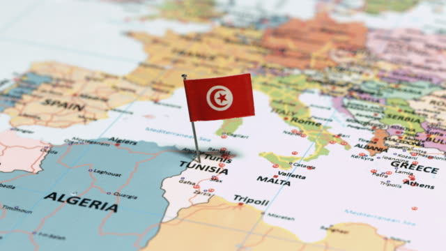 Tunisia with National Flag