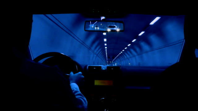 Tunnel driving (blue) video