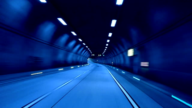 Tunnel exit (blue) video