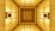 istock tunnel loop structure futuristic squares cubes gold 3D illustration 1202780173