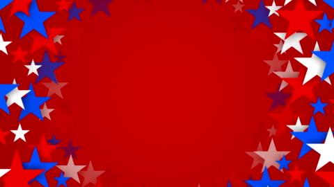 tunnel di rosso, bianco e blu con stelle auto locali (ad anello - culture video stock e b–roll