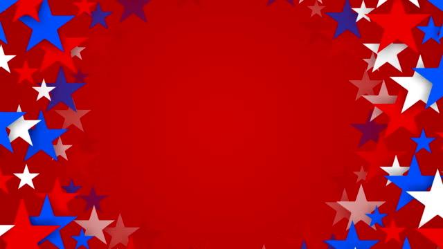 vidéos et rushes de tunnel de rouge, de blanc et de bleu ciel étoilé zoom de (bouclables - patriotisme