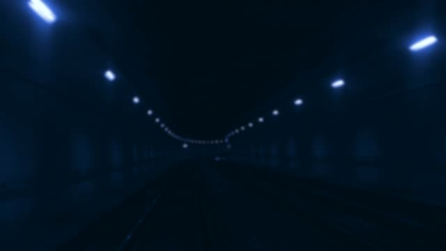 Tunnel speed motion defocused lights Tunnel speed motion defocused lights dark blue stock videos & royalty-free footage