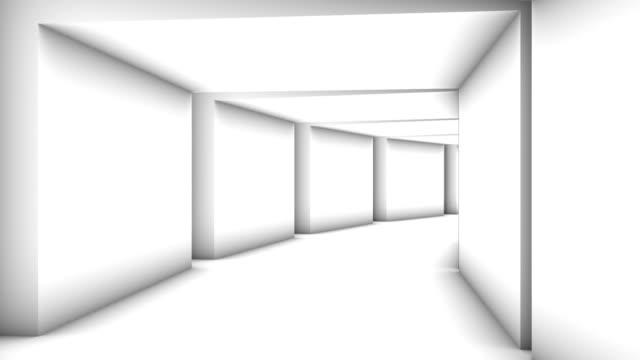 tunnel di mattoni astratto - video