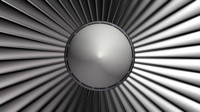 Turbine blades of airplane video