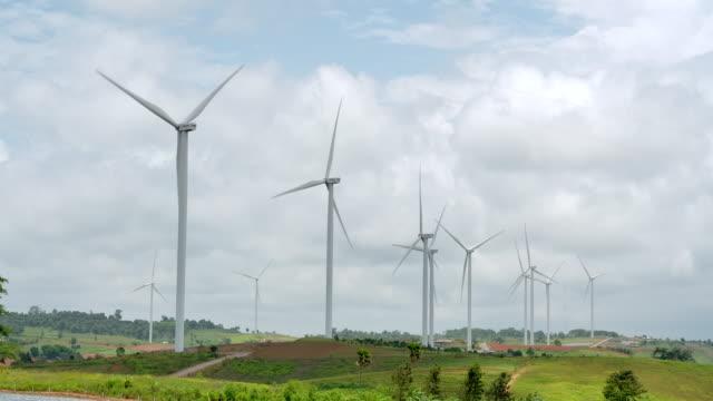 4K Turbine field Renewable Energy Plants, Wind power.