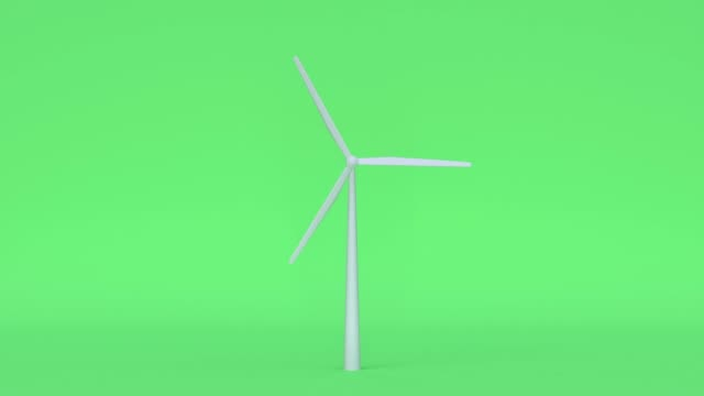 turbine nature green scene cartoon style 3d rendering power electricity innovation concept