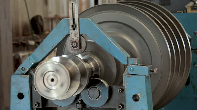 turbine rotor internal steel machine video