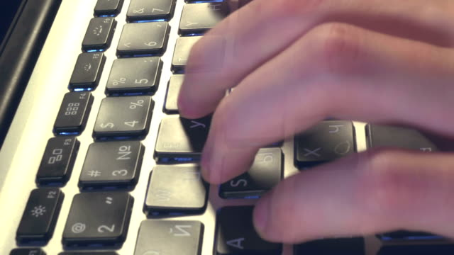 Turbo High-Speed Typing  on the Keyboard. video