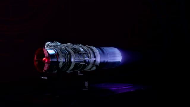 Turbojet Engine Aerodynamics Thrust Test Black Jet video
