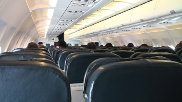 Turbulence from the airplane cabin video