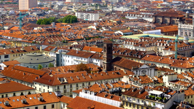Turin City View Turin City View, Turin Italy european culture stock videos & royalty-free footage