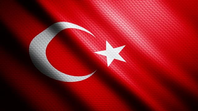Turkey Flag 4K video