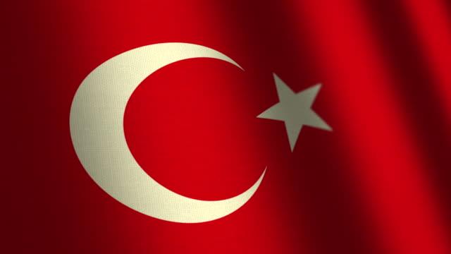 Turkey flag - loop. 4K. video