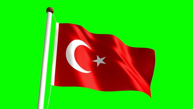 Turkey flag (Loop & green screen) video
