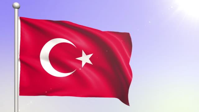 Turkey flag (Loopable) video