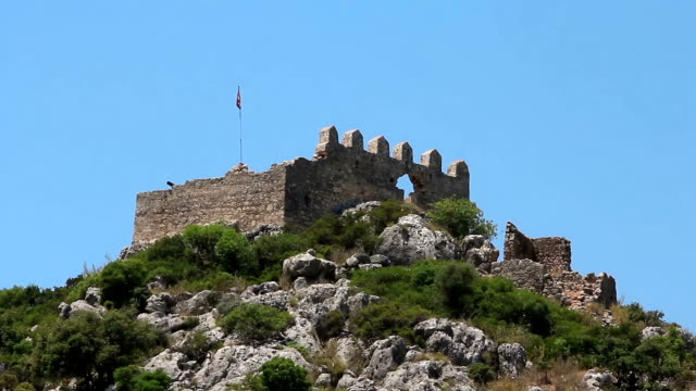 Turkey, Kekova-Simena region, old fortifications video