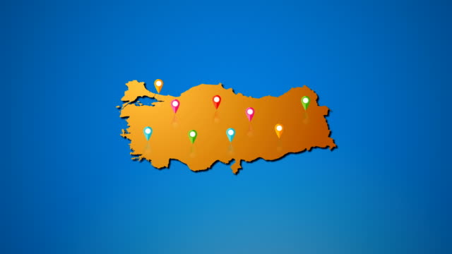 4K Turkey map and Location