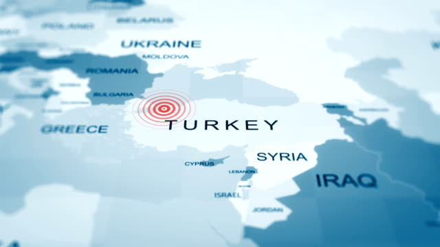 Turkey map istanbul, quarantine, epidemic, Covid-19, 4K Animation