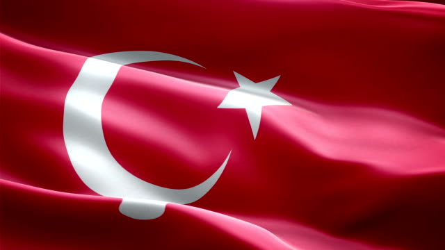 Turkey national flag. (New surge effect) video