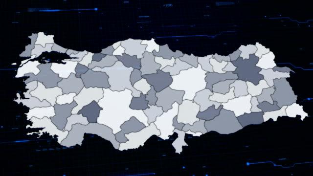 türkei netzwerk-karte - ankara türkei stock-videos und b-roll-filmmaterial