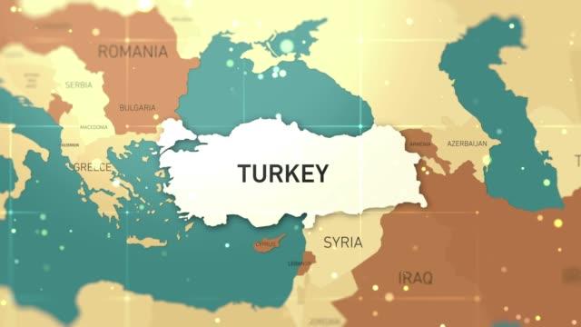 turkey on world map stock video - hiroshima filmów i materiałów b-roll