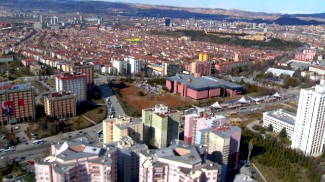 die türkei zeigt eine luftaufnahme der hauptstadt stadtzentrum von ankara. - ankara türkei stock-videos und b-roll-filmmaterial