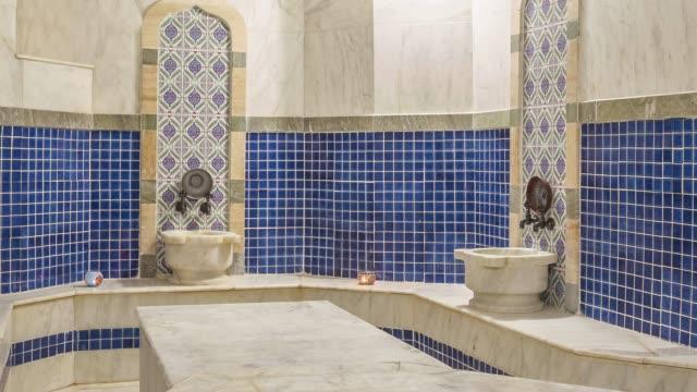 turkish bath hamam - cultura turca video stock e b–roll