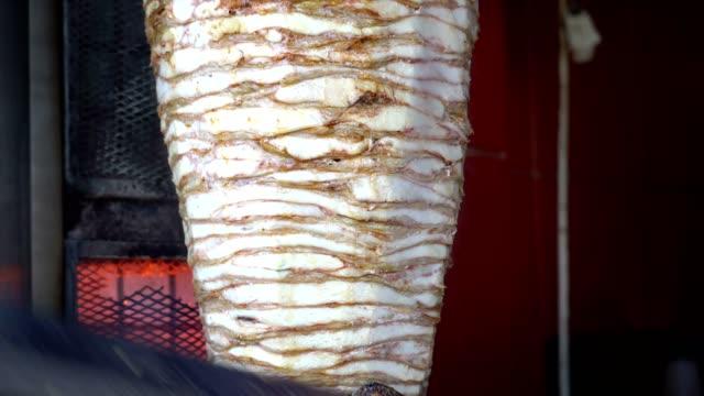 Turkish Chicken Doner Close Up Detail video