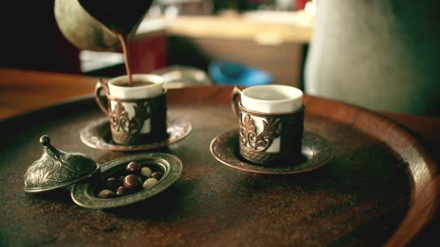 турецкий кофе - турция стоковые видео и кадры b-roll