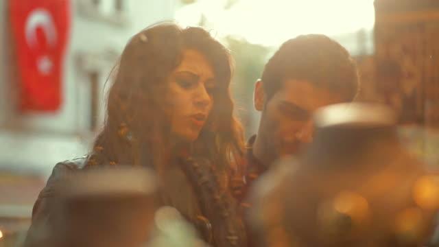 Turkish couple window shopping video