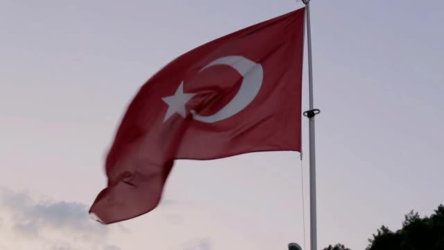 Turkish flag close up video