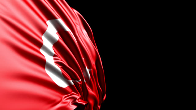 Turkish Flag HD, PAL, NTSC, alpha included, looping video