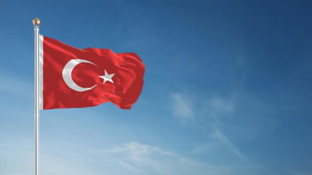 4K Turkish Flag - Loopable video