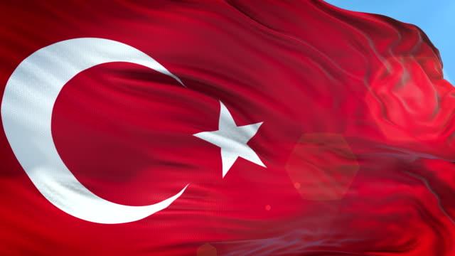 türkische flagge-slow motion-4k-auflösung - ankara türkei stock-videos und b-roll-filmmaterial