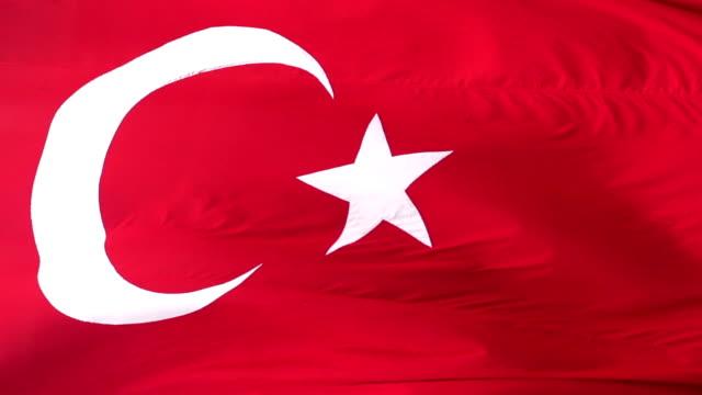 Turkish Flag Slow Motion video