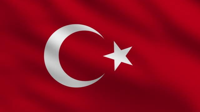 türkische flagge - ankara türkei stock-videos und b-roll-filmmaterial
