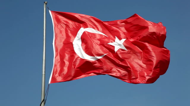 türkische flagge - zentralanatolien stock-videos und b-roll-filmmaterial