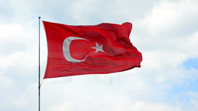 турецкий флаг - турция стоковые видео и кадры b-roll