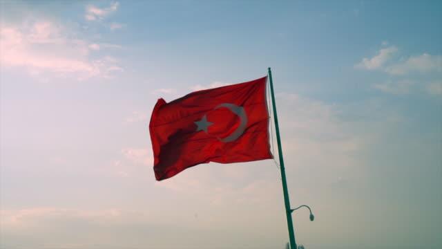 4K Turkish Flag video