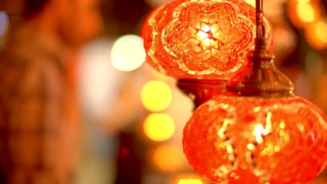 turkiska lampa - ramadan lykta bildbanksvideor och videomaterial från bakom kulisserna
