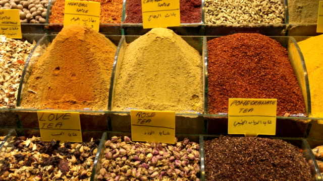 Turkish Spice Market at Misir Carsisi Turkish Spice Market at Misir Carsisi in Istanbul spice stock videos & royalty-free footage
