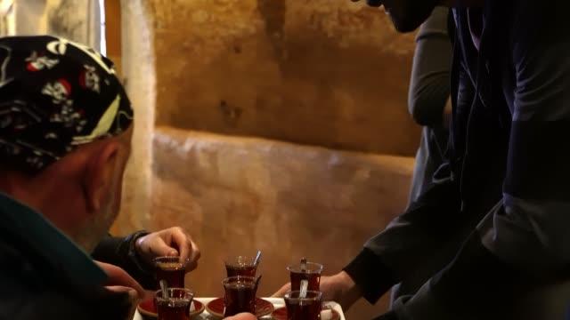 トルコ茶クローズアップ - お茶の時間点の映像素材/bロール