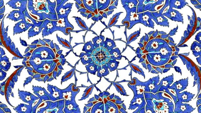 Turkish tiles found in Istanbul Turkey video