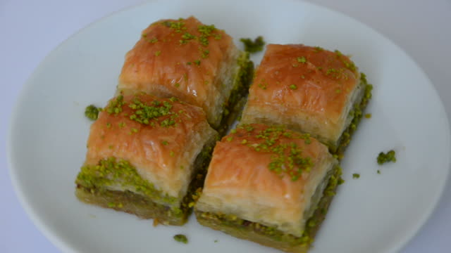 Turkish traditional baklava video