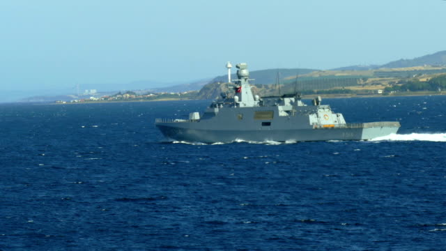 Turkish warship in the Dardanelles video