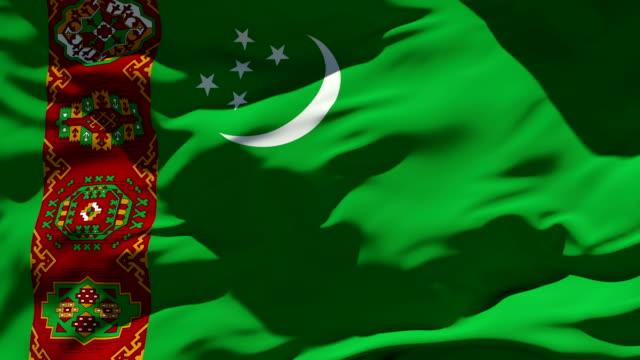 Turkmenistan Flag Seamless Loop turkmenistan stock videos & royalty-free footage