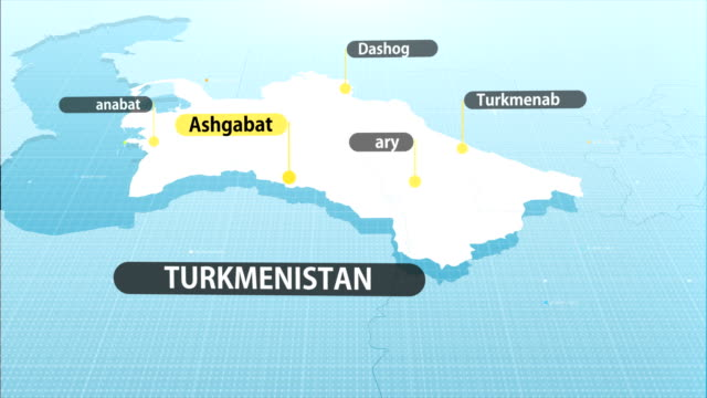 turkmenistan map map with label then with out label turkmenistan stock videos & royalty-free footage